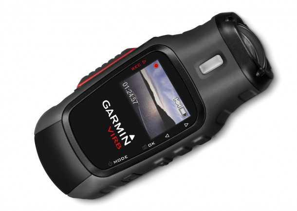 גרמין VIRB. מסך ברזולוציה גבוהה מאפשר קומפוזיציה והגדרות בזמן אמת. מיקרופון פנימי או חיצוני ופיקוד משעון גרמין או אייפון צילום: גרמין