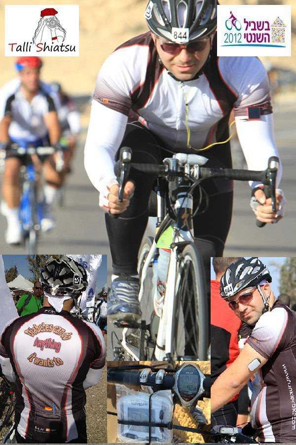 """כפיר טהרי רוכב 90 קילומטרים במסע """"בשביל השנטי"""" 2012. צילום: טלי סיאטצו"""