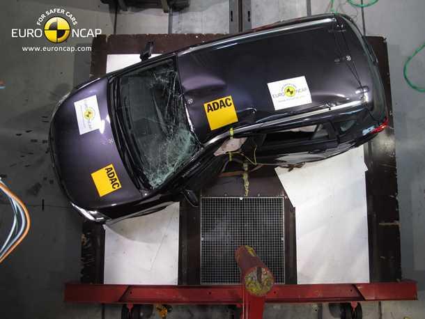 סוזוקי קרסואובר מבחן ריסוק. קיבל את הציון הגבוה ביותר מבין רכבי הפנאי שנבחנו בסבב הזה. צילום: NCAP