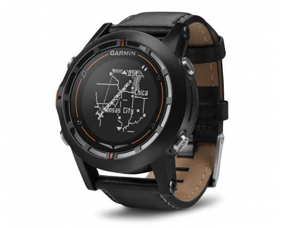 שעון טייסים גארמין D2. עד 50 שעות במצב GPS, עמידות ב-50 מ' מים ויכולת להציל אותך מתכנית טיסה שהשתבשה. צילום: GARMIN