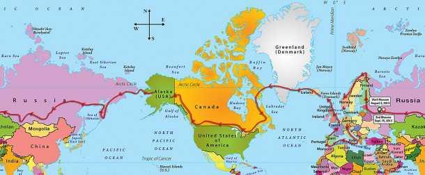 מסוק רובינסון R66 טס מסביב לעולם. זה הנתיב כמעט 40 אלף קילומטרים במסוק טורבינה זעיר. צילום: רובינסון