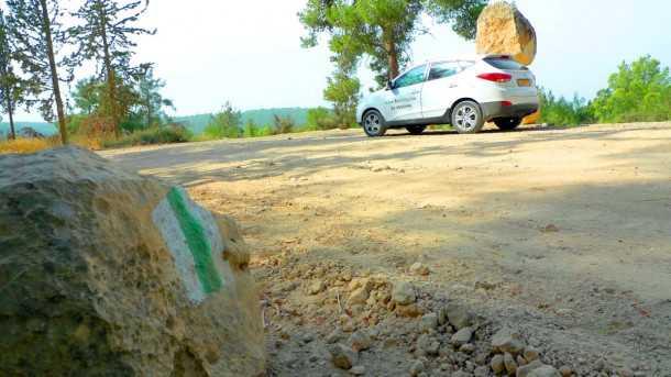 """מסלול טיול שטח עם יונדאי IX35. בדרך בורמה למצפה הראל, לתעוז, ובדרך התנ""""ך לשמשון הגיבור. צילום: פז בר"""