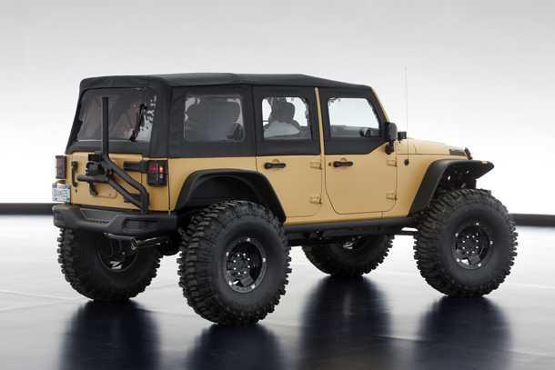 "Jeep Wrangler Sand Trooper II. כל הדברים הטובים מקטלוג MOPAR יחד עם 55 קג""מ וסרנים פורטליים. צילום: JEEP"