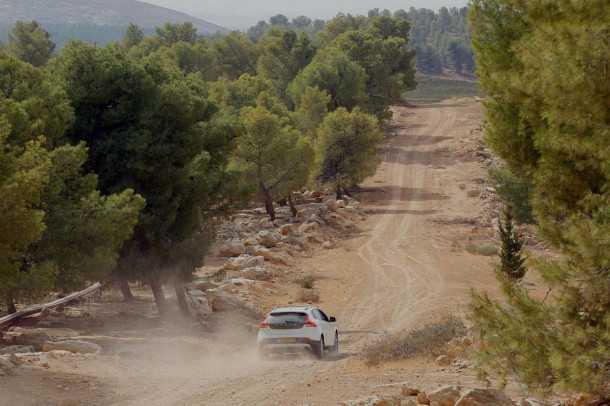 מבחן דרכים וולוו V40XC. בדרך לכרמים של יער יתיר, לא נרתעת מלתור שבילי יער, את הדרך להם היא תעשה בנוחות מרשימה. צילום: פז בר