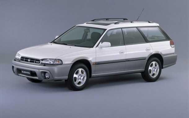 סובארו אאוטבק 1994. דור ראשון לקרוסאובר אשר שידך בין מכונית פרטית לרכב שטח. מפגן יכולת למערכת ההנעה הכפולה ולמנוע הבוקסר של סובארו. צילום: סובארו