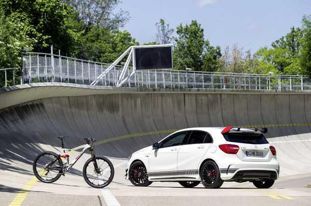 Rotwild r.x45 AMG. אופני אולמאונטיין אגרסיביים שפותחו יחד עם חטיבת הביצועים של מרצדס AMG. צילום: AMG
