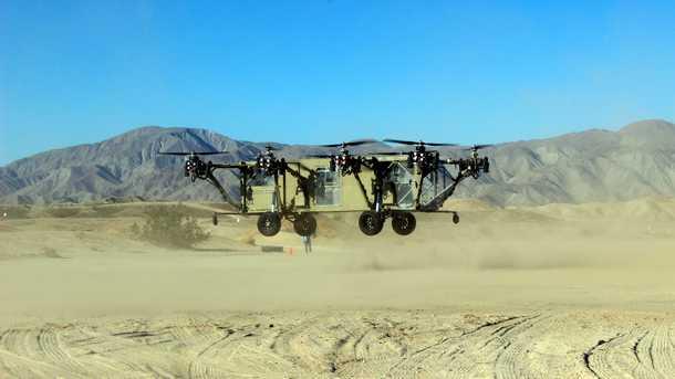 טנדר מרחף. עם יכולת הנפה של שברולט סילבראדו (טונה וחצי) וכפליים מהיר ממנו ב-200 קשרים - עשויים כלי טיס כאלו להיות העתיד במשימות המסוכנות מדי לכלי טייס מאויישים. צילום:ADVANCED TACTICS