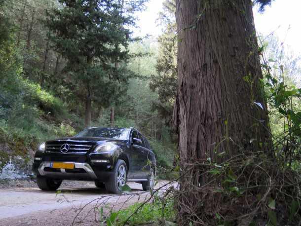 מבחן רכב מרצדס ML 350 BL. בידוד הרעשים בתוך ML מצויין - היכולת בשטח מוגבלת לדרכי עפר אלא עם יש חבילת שטח אשר משפרת מאד את היכולת ואת האפשרות להשתמש ברכב. צילום: רוני נאק