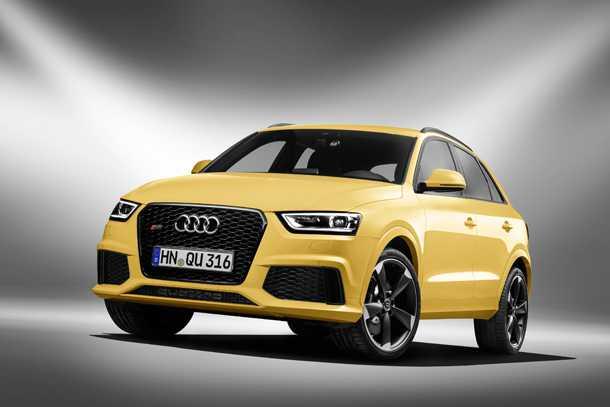 Audi RS Q3. אח שרירי, מעוצב ומאובזר של Q3. מתחיל מ-350 אלפי שקלים. לא חייבים בצהוב. צילום: AUDI