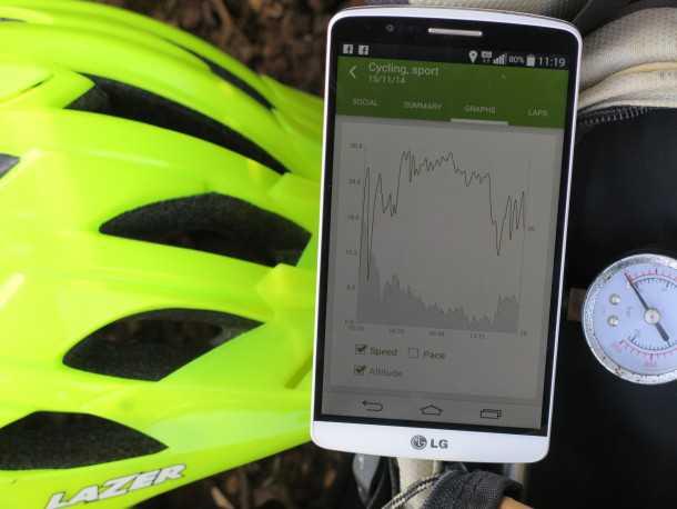 """אפליקציות לרכיבת אופניים. ENDOMONDO הנדיבה ביותר בחבילת החינם (""""גולד"""" לשבועיים), עיצוב נאה וממשק ידידותי מאד. מומלצת! צילום: רוני נאק"""