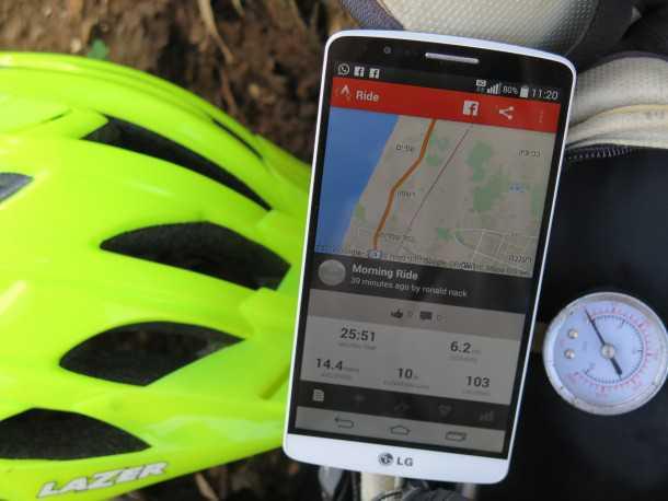 אפליקציות לרכיבת אופניים. STRAVA - דוחפת אותך לקצה היכולת עם גישה מאד תחרותית. חבילת הבסיס החינמית נותנת די הרבה. צילום: רוני נאק