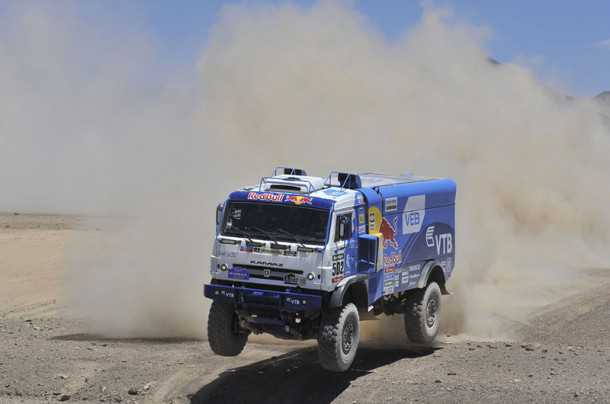 """שליטה טואטלית של משאיות קאמאז גם השנה כששלושת המקומום הראשונים נתפסים כמעט מייד על ידי הקבוצה. בהמשך ההגמוניה מתערערת. צילום: יח""""צ"""