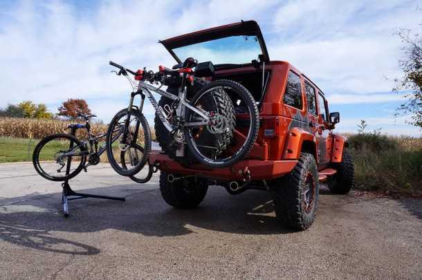 jeep trailseeker. קונספט סביב נושא הובלת האופניים לשטח. צילום: JEEP