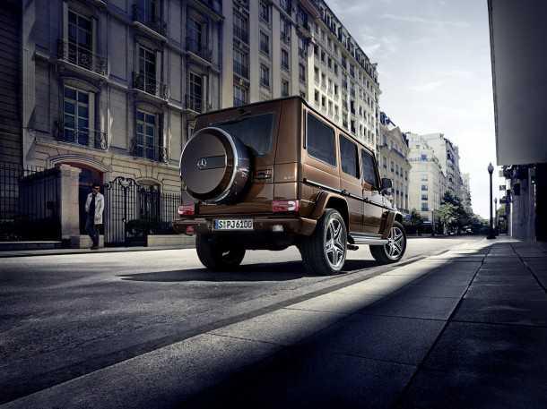 מרצדס G-קלאס. גווני צבע חדשים למרכב, וחישוקי גלגלים מעוצבים לבוקר העירוני. צילום: מרצדס