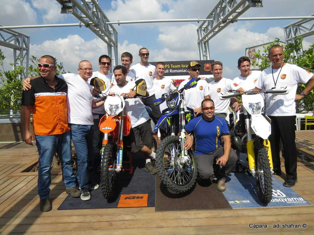 עשרה אופנוענים ישראלים יוצאים לאנדורו-אקסטרים ברומניה. צילום: כפרה עדי שפרן