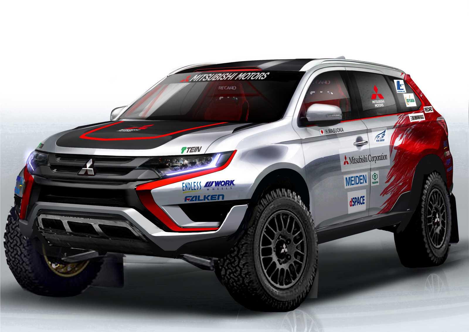 מיצובישי אאוטלנדר PHEV - יתחרה בבאחה פורטוגל - סולל את הדרך לדור חדש של מכוניות ראלי היברידיות? האם נראה אותו גם בדקאר 2016? צילום: מיצובישי