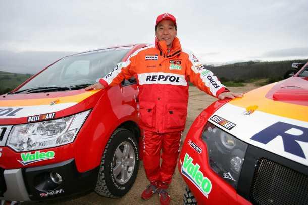 הירושי מסואוקה. אגדת דקאר ואחד מנהגי הפיתוח המנוסים ביותר בזירת הראלי העולמית. צילום: מיצובישי