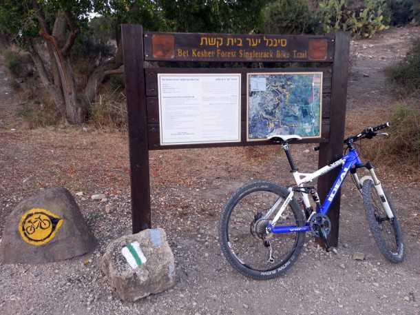 """סינגל יער בית קשת. רק אחד מעשרות מסלולי האופניים באתר החדש של קק""""ל. צילום: רוני נאק"""