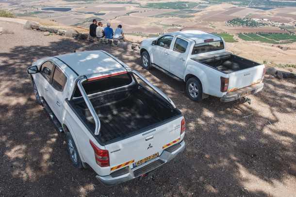 מבחן רכב משווה מיצובישי טריטון מול איסוזו דימקס. מי יהיה הטנדר המכר בישראל? צילום: נועם עופרן