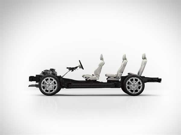 """מבחן רכב וולוו XC90 דיזל. נצר ראשון לארכיטקטורה בעלת קנ""""מ משתנה אשר תשרת בעתיד דגמים נוספים בהיצע של וולוו. צילום: וולוו"""