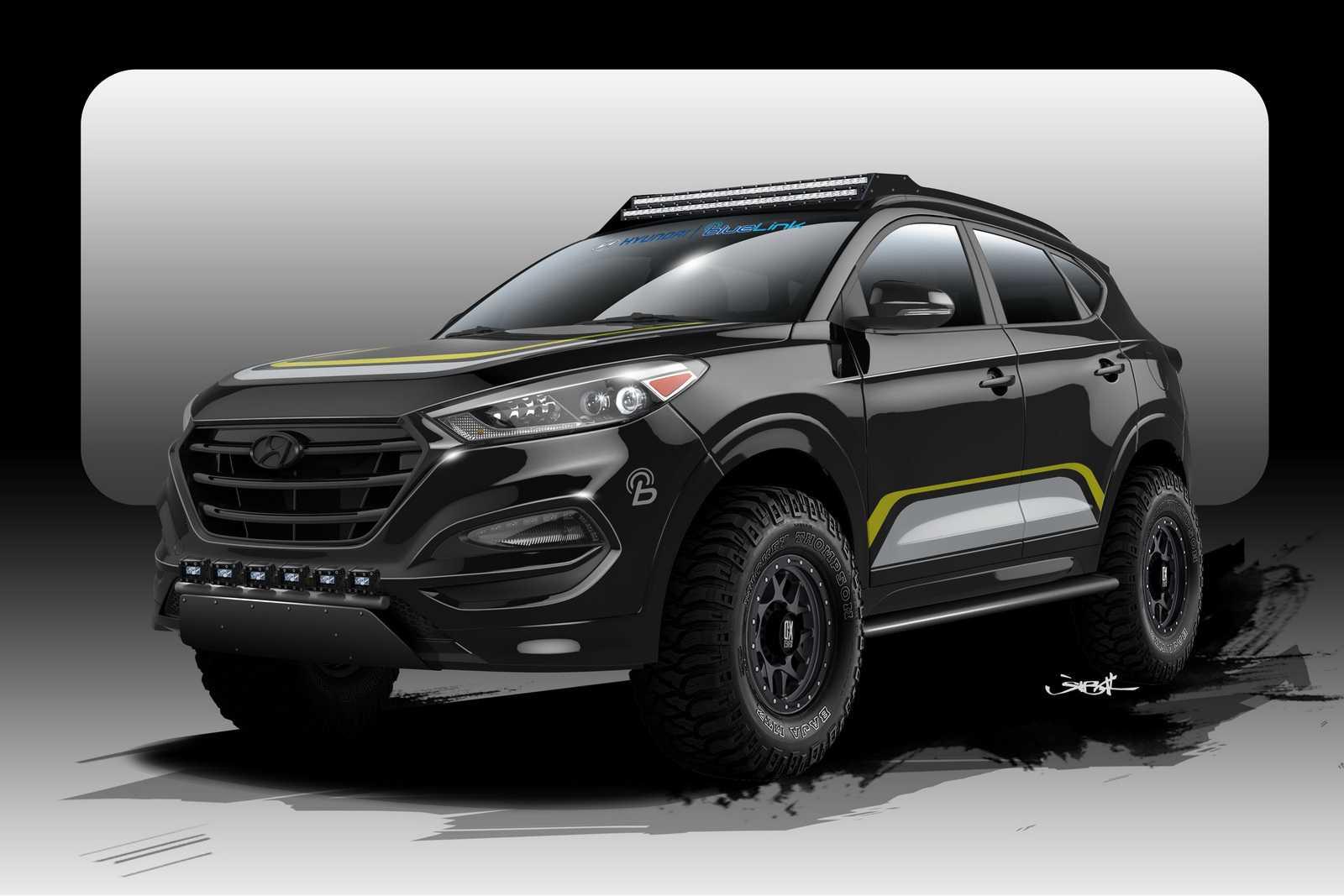 יונדאי טוסון RPG. רכב תצוגה לקראת תערוכת SEMA בחודש הבא. איור: RPG