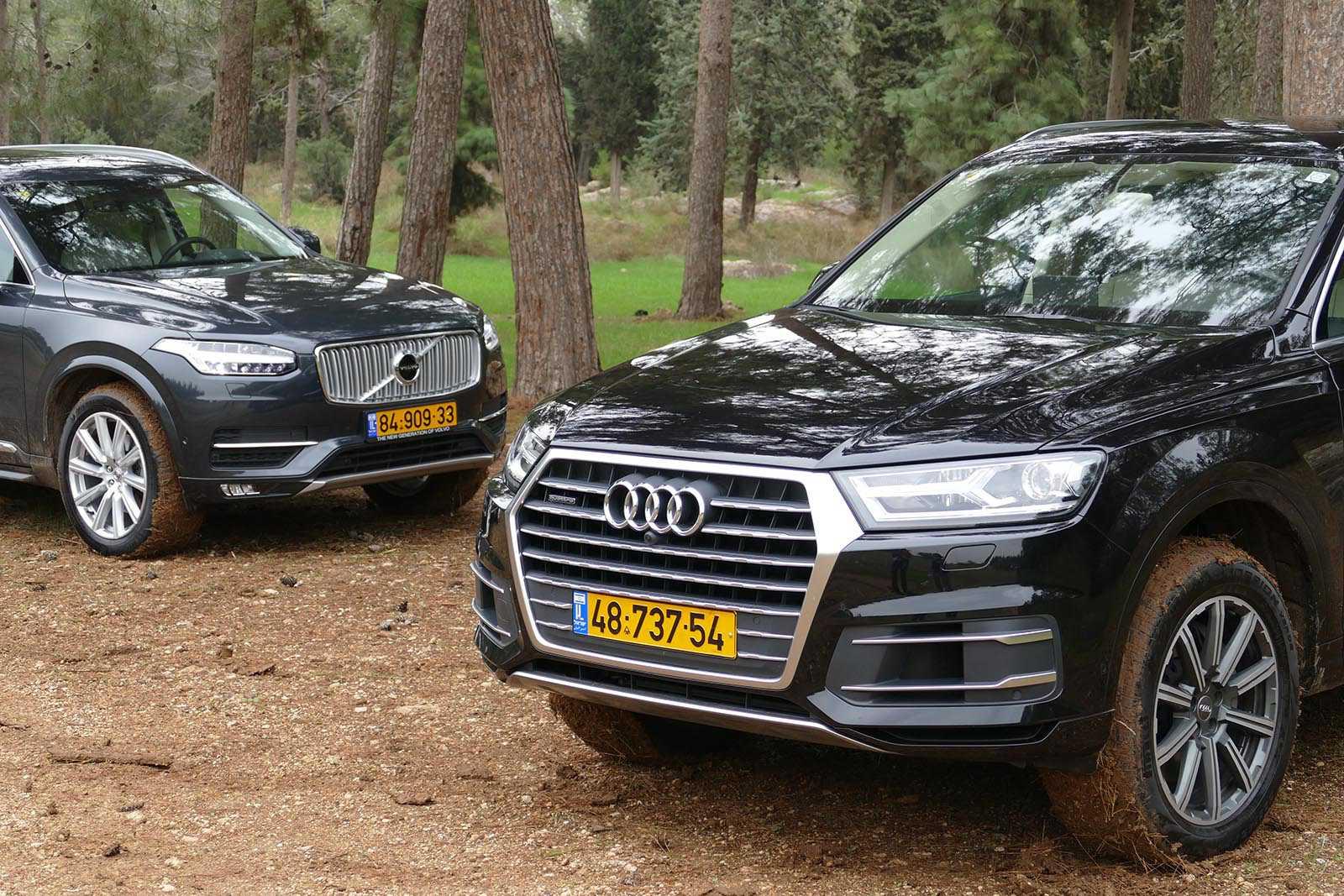 מבחן רכב וולוו XC90 מול אודי Q7. מי יהיה מרובה המושבים-פרימיום העדיף? צילום: ניר בן זקן