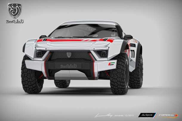 רכב מירוצי המדבר של סדנת ZAROOQ מדובאי. תחליף יקר למי ש-RZR טורבו הוא פשוט זול מדי. צילום: ZAROOQ