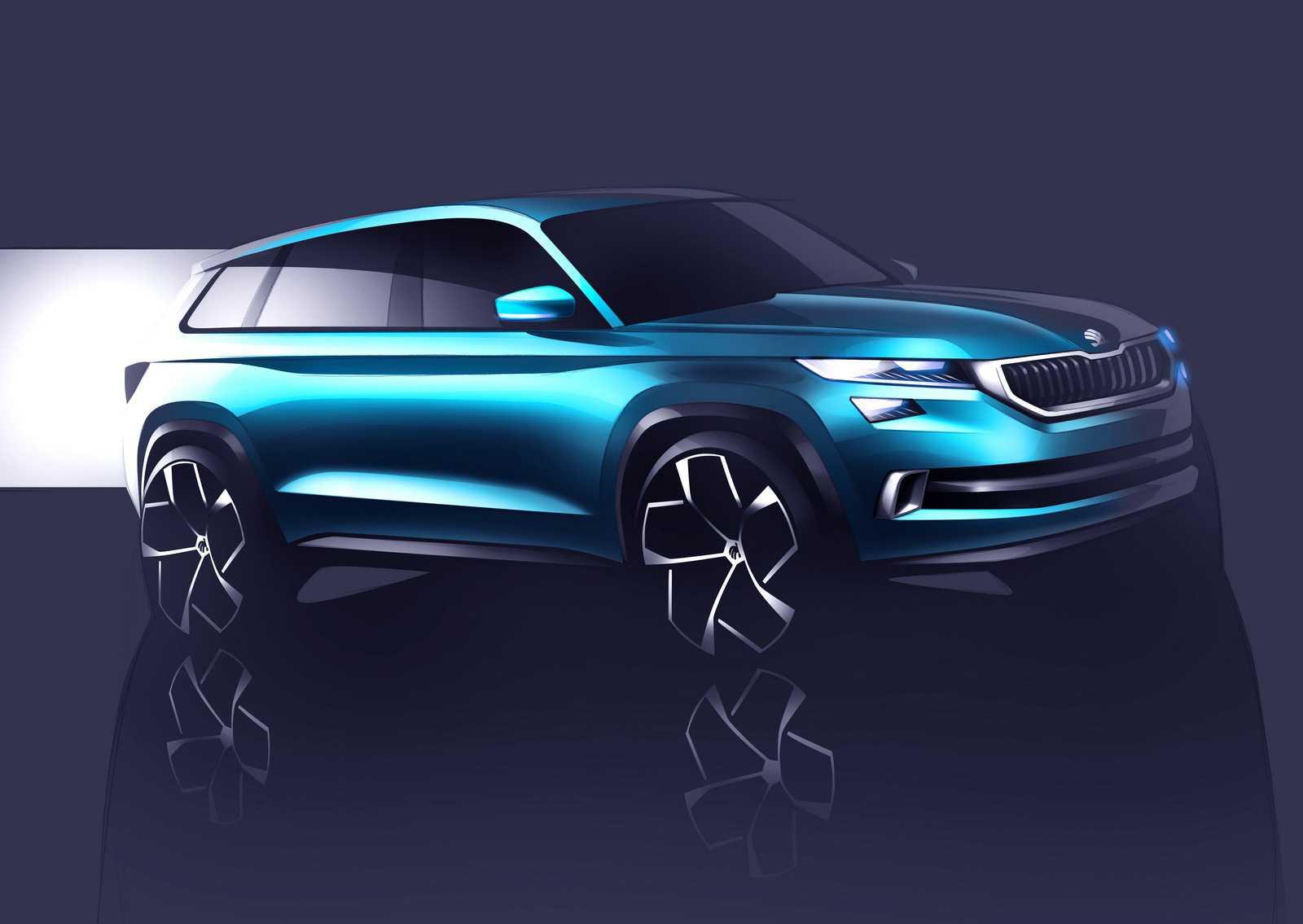 רכב התצוגה של סקודה. וויז'ן S - מבשר את בואו של דגם חדש לג'יפון עם 7 מושבים מסקודה - משלים יפה את קו המוצרים ובעל פוטנציאל מצויין בישראל. צילום: סקודה