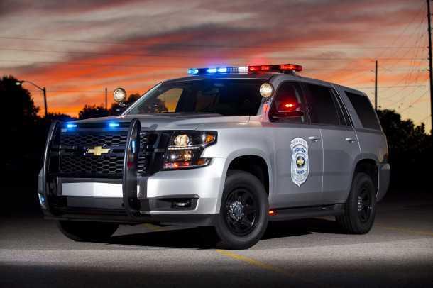 ניידת משטרה על בסיס שברולט טאהו. לא בדיוק עומדת בתנאי המכרז - אבל זה הרעיון הכללי. צילום: GM