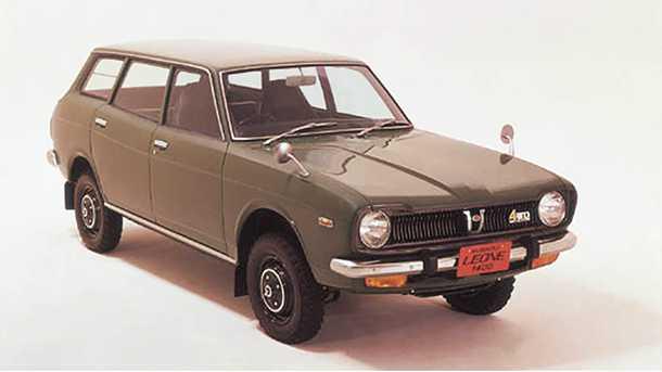 חושבים שקרוסאובר זו המצאה חדשה? סובארו לאונה עם הנעה כפולה, מרכב סטיישן ומנוע בוקסר משנות ה-70'. צילום: סובארו