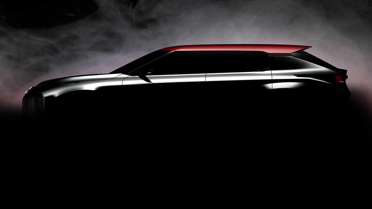 מיצובישי PMS - רכב תצוגה לתערוכת פריז הקרובה עם רמזים לעיצוב ולהנעה של הדור הבא של רכבי הפנאי של מיצובישי. צילום: מיצובישי