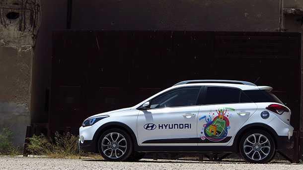 מבחן רכב יונדאי i20Cross. קרוסאובר, ג'יפון או רכב פנאי תקראו לו הגרסה הכי טובה של i20. צילום: רוני נאק