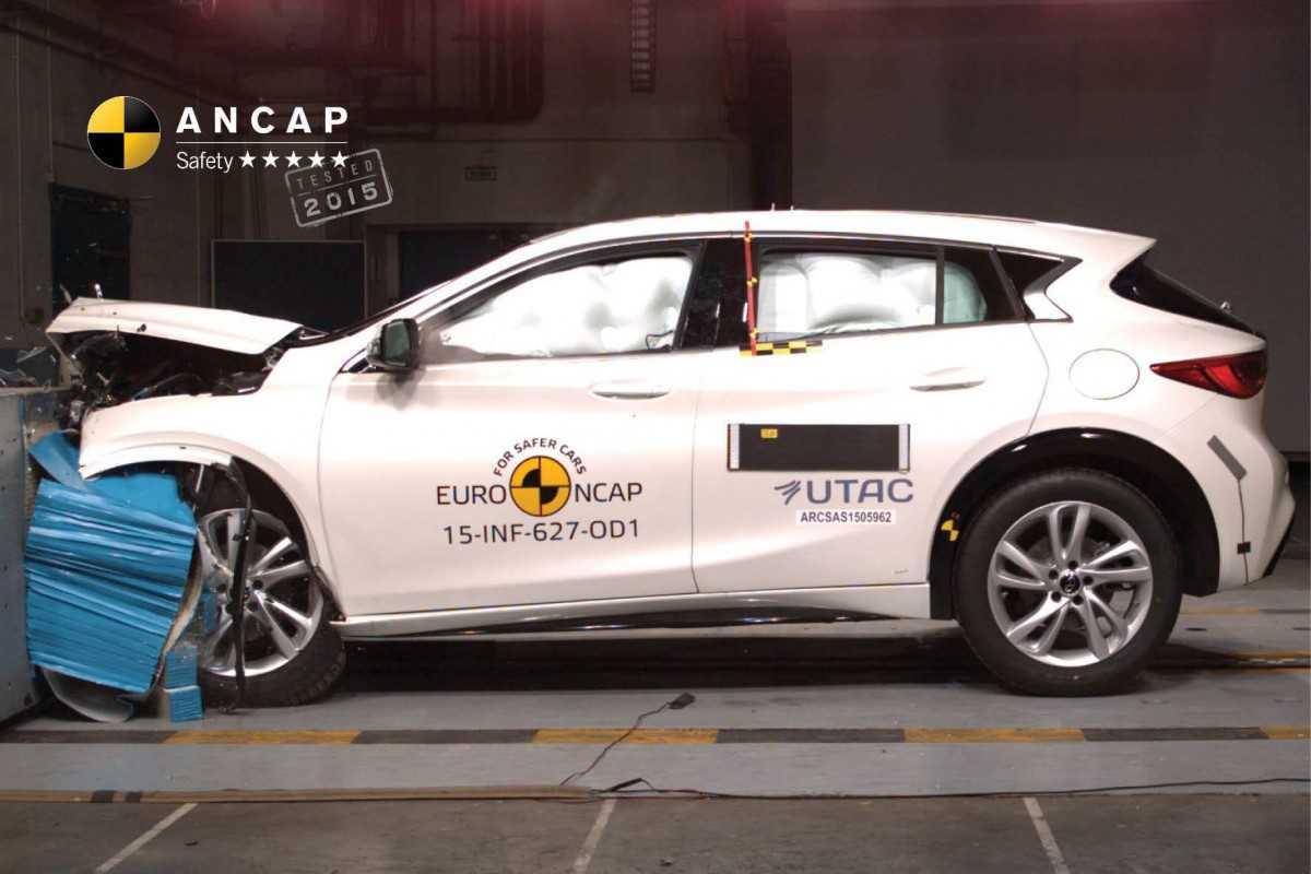 ציון בטיחות גבוה לאינפיניטי Q30 במבחן הריסוק האוסטראלי. הרכב יגיע גם לישראל. צילום: ANCAP
