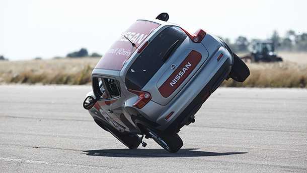 לג'וק יש בדרך כלל 6 רגליים - אבל במקרה של הוי גם שני גלגלים יספיקו לניסאן ג'וק. צילום: ניסאן
