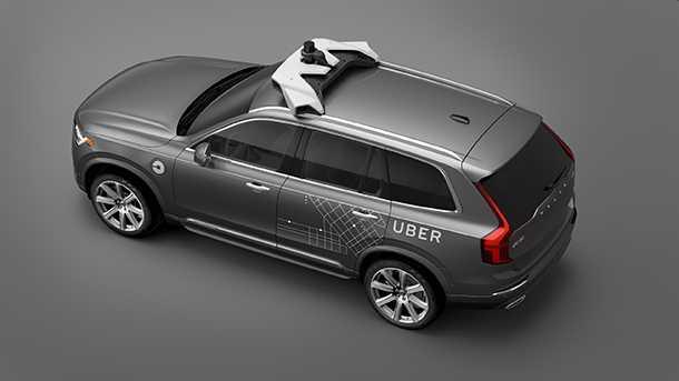 וולבו XC90 יהיה פרד הניסויים יחד עם UBER לפיתוח מונית אוטונומית. צילום: וולבו