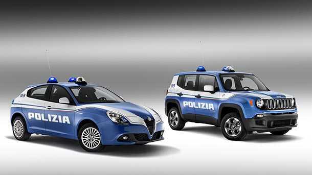 ג'יפ רנגייד ואלפא רומאו ג'ולייטה למשטרת איטליה. צילום: ג'יפ