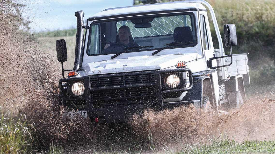 טנדר מרצדס G קלאס - רכב עבודה קשוח לערבות אוסטרליה. 119 אלף דולרים שם. צילום: מרצדס