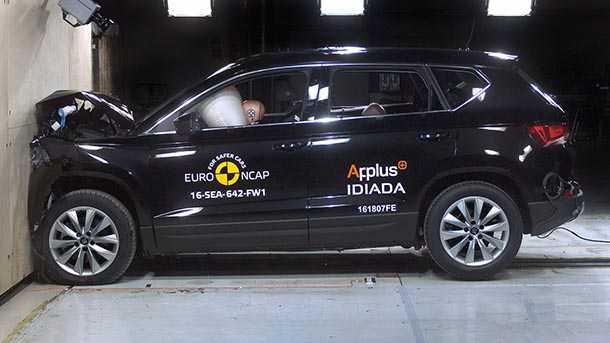 סיאט אטקה מקבל ציון לשבח מאירגון ENCAP המדרג את בטיחות המכוניות. צילום: NCAP