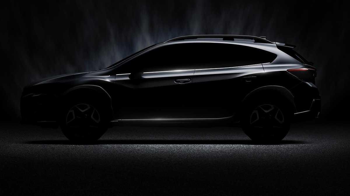 הדור הבא של סובארו XV. בקרוב החשיפה של מה שסובארו מבטיחים הוא רכב בעל הנעה כפולה ועיצוב מעורר. צילום: סובארו
