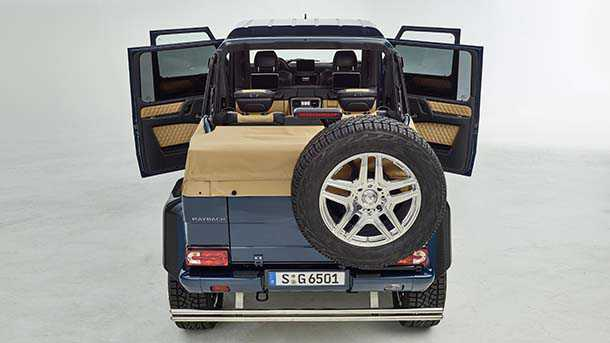 """מרצדס מאיבאך G650 לאנדאולט. פירוש קיצוני ל""""רכב שטח מפואר"""" ממרצדס. עם מהדורת יצור מוגבלת מעל 600 כוחות סוס וחן של פאנצר. צילום: מרצדס"""