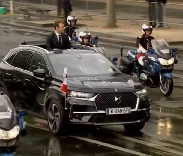 עמנואל מקרון - נשיא צרפת החדש - ממשיך מסורת ארוכת שנים של שימוש ב-DS כרכב הרשמי של נשיא צרפת. צילום: סיטרואן