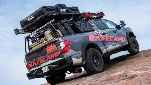 טנדר ניסאן טיטאן בייסקאמפ - רכב תצוגה לאוטונומיה בשטח. צילום: ניסאן