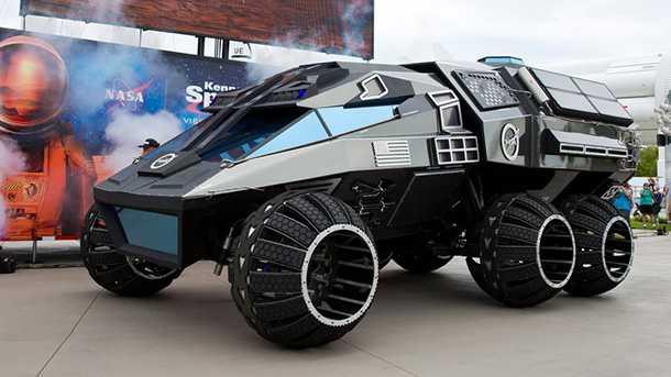 זה הרובר קונספט שנועד בעיקרון לשוטט על פני המאדים - ההנעה חשמלית ואין החלפת מצבר רובוטית. צילום: NASA