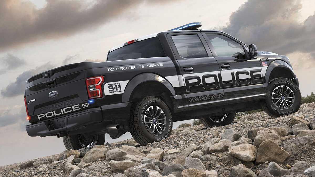 פורד בגרסה מיוחדת למשטרה של טנדר F-150. צילום: פורד