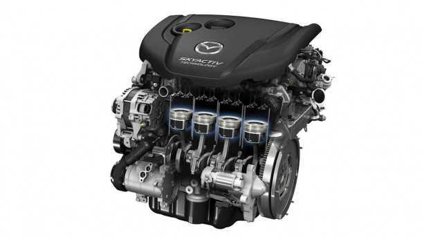מנוע סקאיאקטיב הנוכחי - שבצילום - יוחלף תוך שנתיים במנוע עם טכנולוגיות חדשניות. צילום: מאזדה