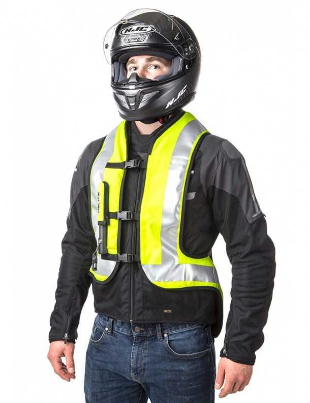 מעיל בטיחות מתנפח לאופנוענים החל מ-2500 שקלים. יש ווסט צילום: HELITE