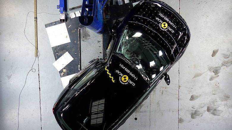 מבחני ריסוק NCAP. ציון מופחת לקיה ללא מערכות בטיחות מקוריות. מגמה מתחזקת? צילום: NCAP
