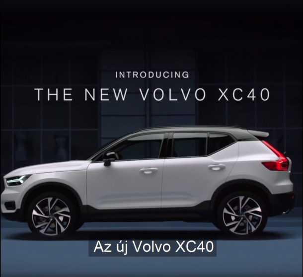 וולוו הונגריה חושפת בטעות את המראה של וולוו XC40 החדש. צילום: וולוו