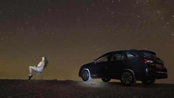 סובארו אאוטבק מתסכלת על הכוכבים בעת שהקבוצה מתמקדת יותר בייצור ופיתוח כלי הרכב. צילום: רוני נאק