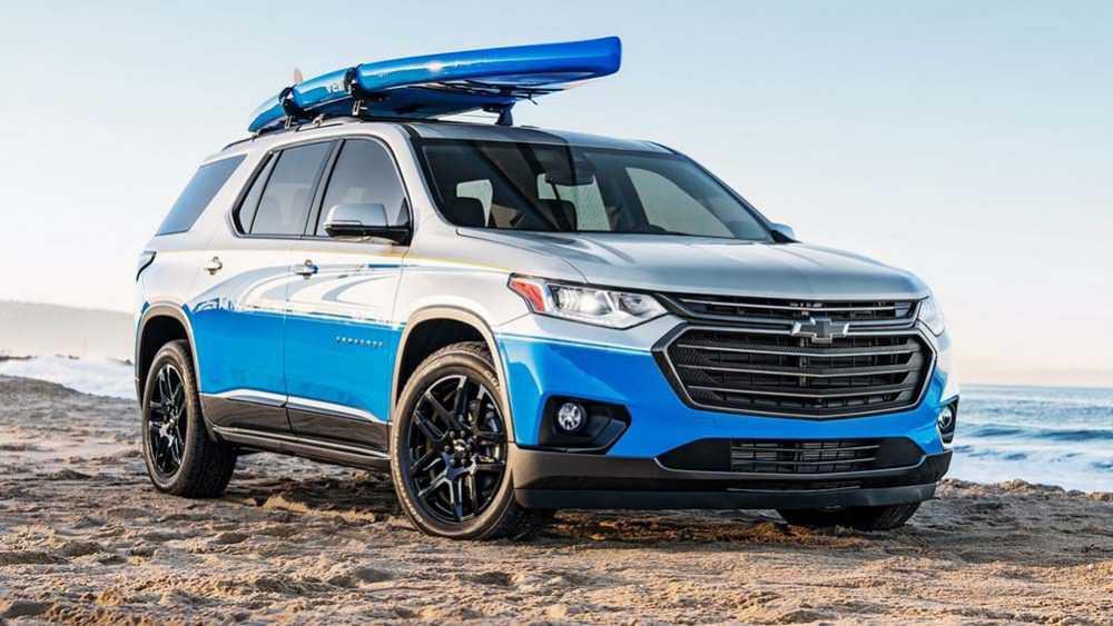 זה הקונספט SUP של שברולט טראוורס לקרת תערוכת שיפורי הרכב ואביזרי הרכב SEMA. צילום: שברולט